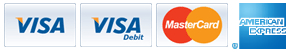 We accept the following cards: Visa, Visa Debit, MasterCard, Solo, Maestro & Visa Electron