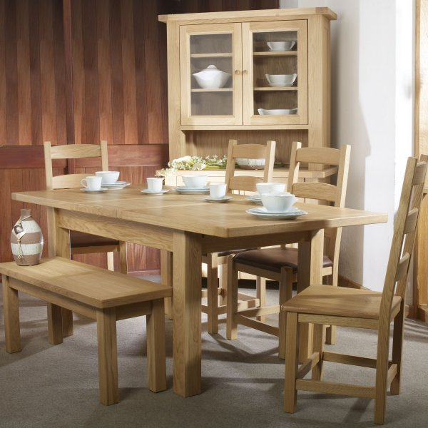 Charltons Bretagne Dining Furniture Oak Dining Table Dining Bench Sideboard