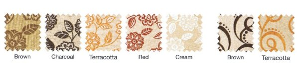 Concept Floral and Swirl Fabric Swatches