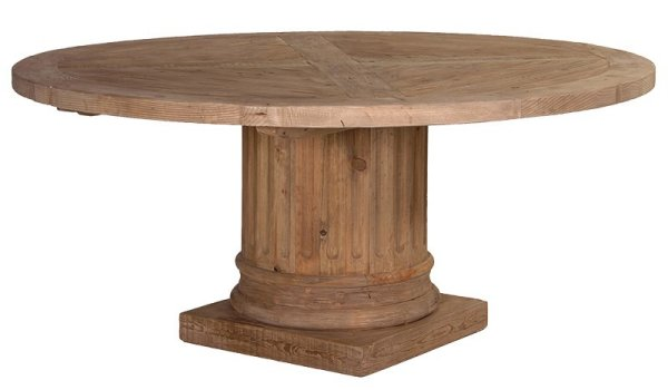 Corinthian Reclaimed Pine Column Round Table