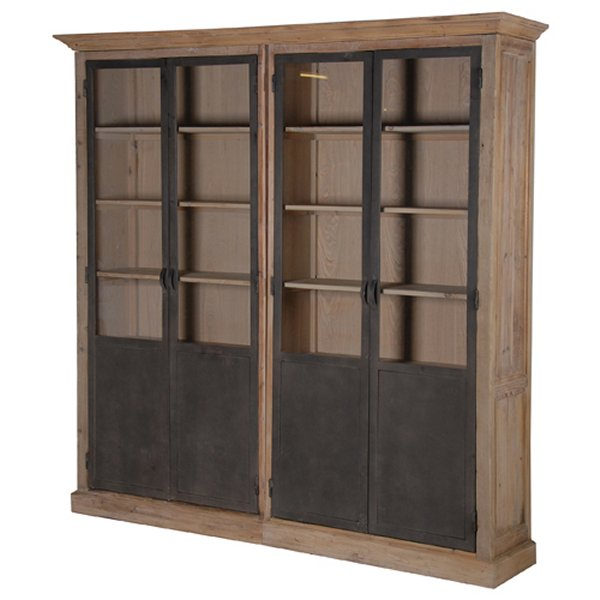 Loft Large Pine 4 Door Bookcase