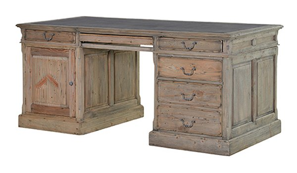 Colonial Reclaimed Pine Partner Desk