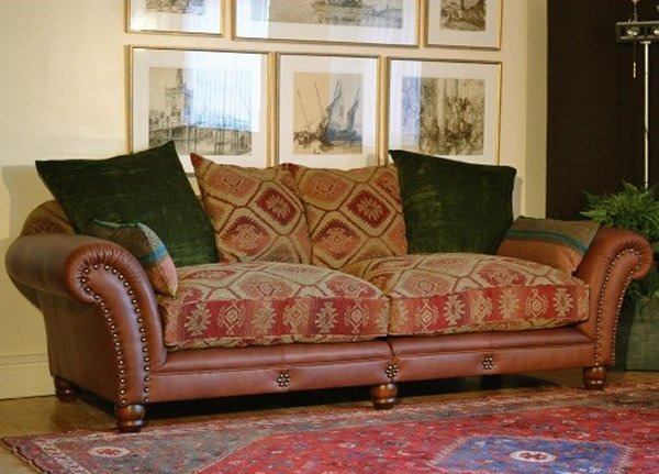 Leather Sofa Seat Cushion Covers Tetrad Mixed Leather & Fabric Sofas Eastwood Degas Churchill