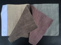 Tetrad Brunel Linen Fabric Swatches - Natural, Chocolate, Plum & Steel