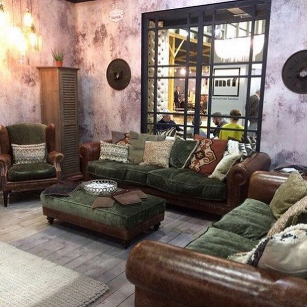 The Tetrad Constable Sofa, Armchair and Stool Range on display at the January Furniture Show 2108, NEC