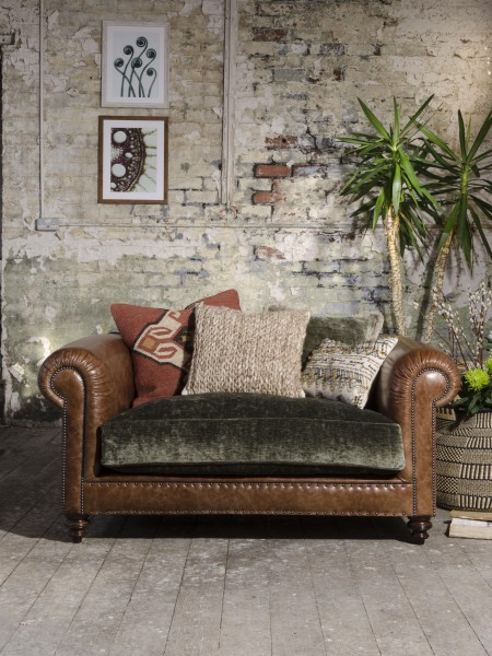 Tetrad Mixed Leather Amp Fabric Sofas Constable Westchester