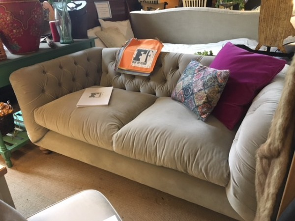 FF Collection by Tetrad Truffle Petite Sofa on display in our Southport furniture showrooms