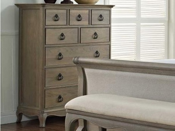 Willis And Gambier Camille Oak Bed Chest Of Drawers Bedroom Bench - Weathered oak bedroom furniture